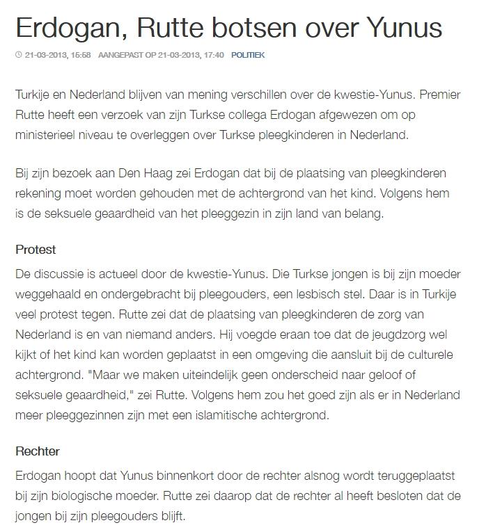 Nieuwsbericht Yunus-kwestie op nos.nl